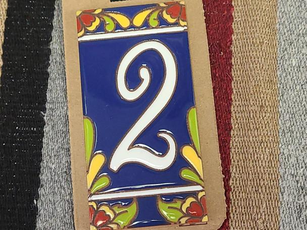 Southwestern Address Number Tile #2