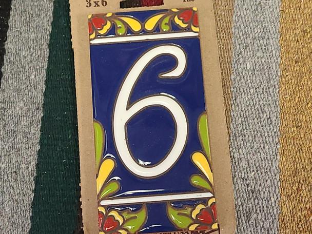 Southwestern Address Number Tile #6
