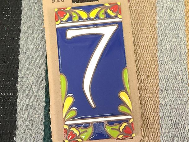 Southwestern Address Number Tile #7