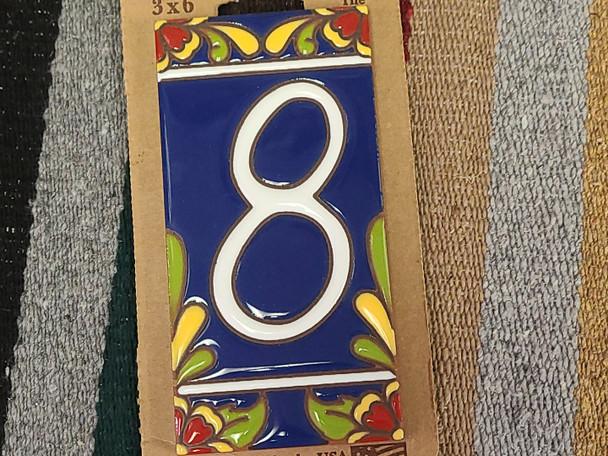 Southwestern Address Number Tile #8