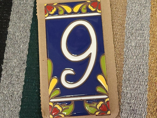 Southwestern Address Number Tile #9
