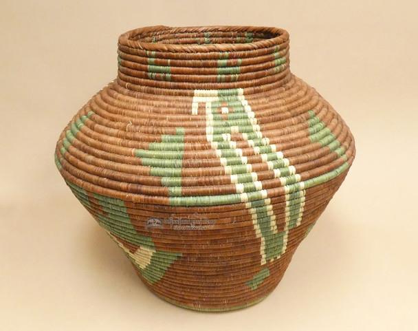 Hand Woven Southwestern Olla Style Basket