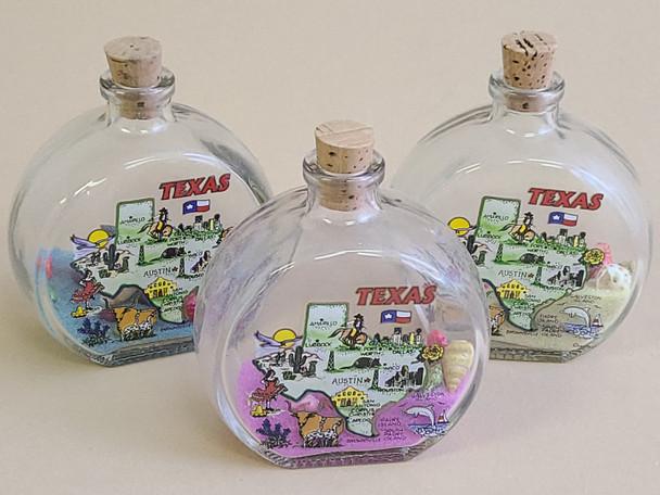 Assorted Texas Souvenir Sand Bottles