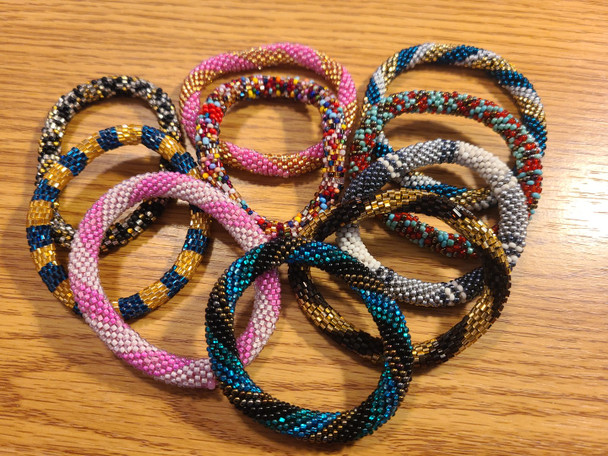 Assorted Seed Bead Bangle Bracelets