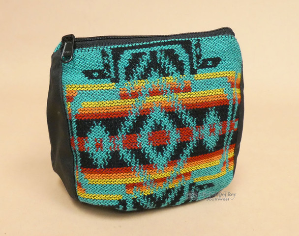 Woven Southwest Coin Purse -Teal