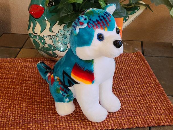 Southwestern Plush Stuffed Animal - Teal Wolf