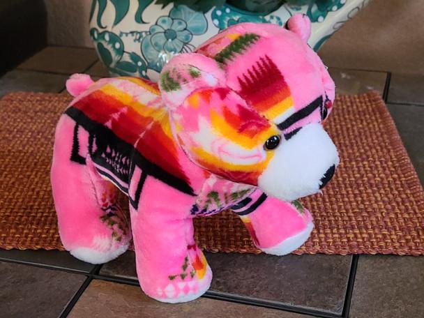 Southwest Plush Stuffed Animal -Pink Bear