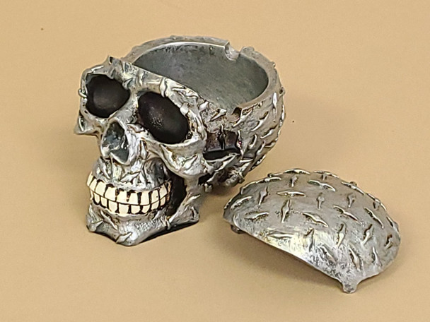 Diamond Plate Skull Trinket Box