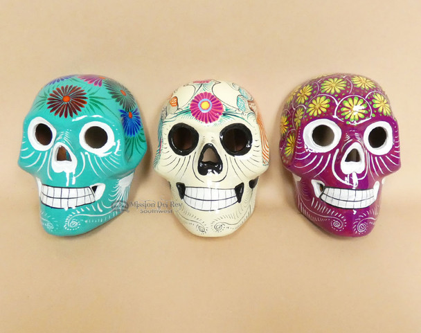 Assorted Day of the Dead Wall Skulls