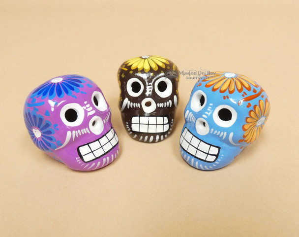 Assorted Day of the Dead Miniature Skulls