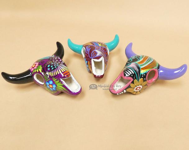 Assorted Hand Painted Steer Skulls