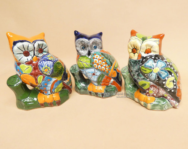Assorted Hand Painted Ceramic Owls