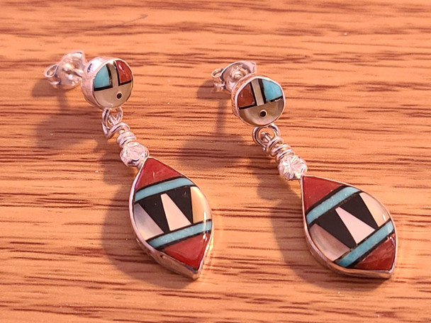 Native American Silver Earrings