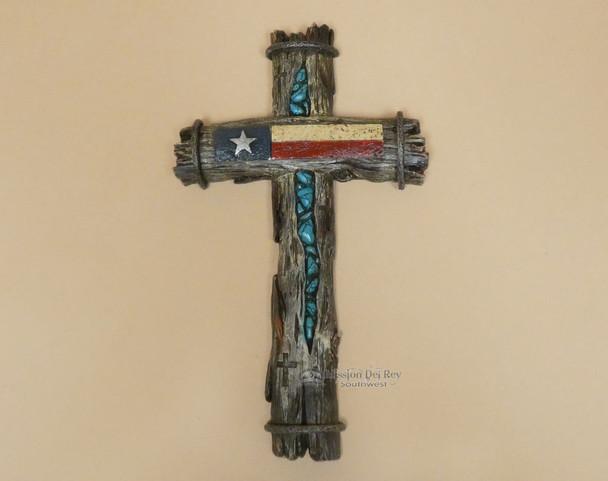 Texas Wooden Wall Cross