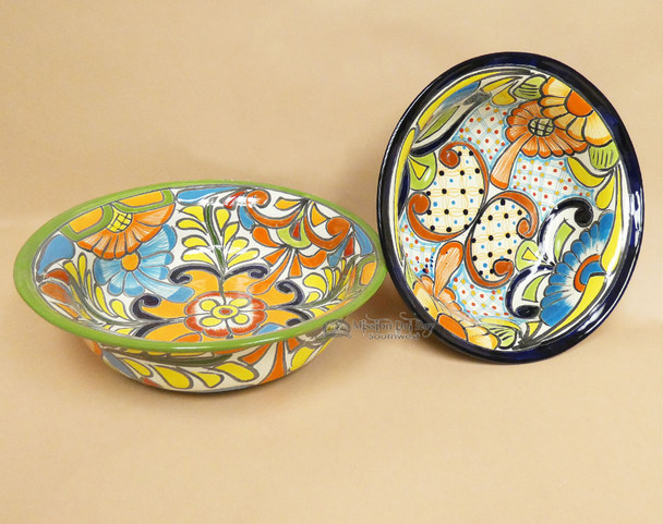 Large Hand Painted Talavera Bowl Assorted