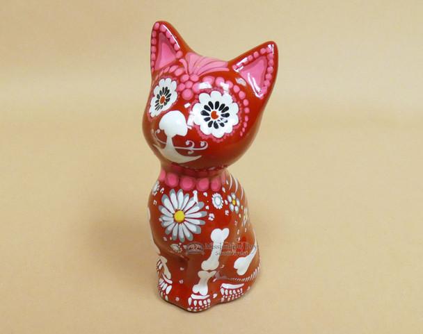 Day of the Dead Ceramic Cat