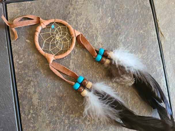 "Navajo Indian Dreamcatcher 2"" -Saddle"