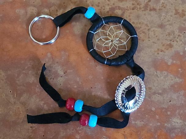 Navajo Concho Dreamcatcher Key Chain -Black