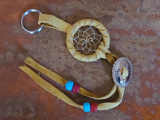Navajo Concho Dreamcatcher Key Chain -Gold