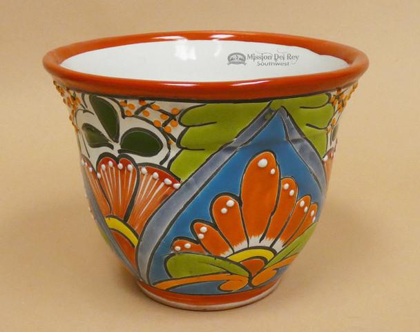 Hand Painted Ceramic Talavera Planter