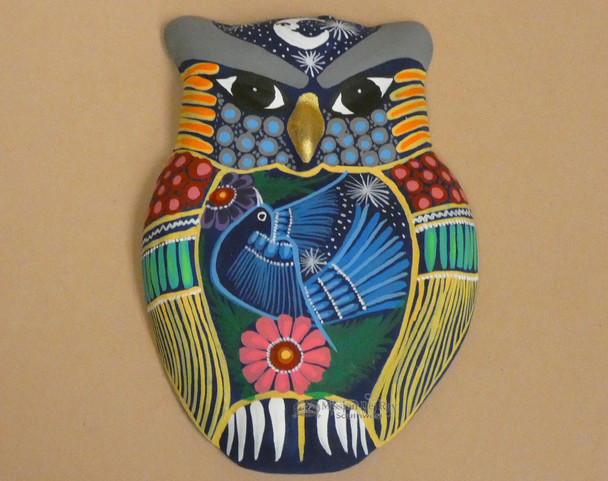Hand Painted Matte Wall Owl