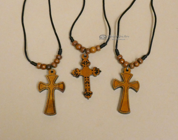 Wooden Cross Necklaces