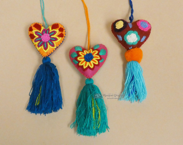 Assorted Handcrafted Oaxacan Felt Ornaments