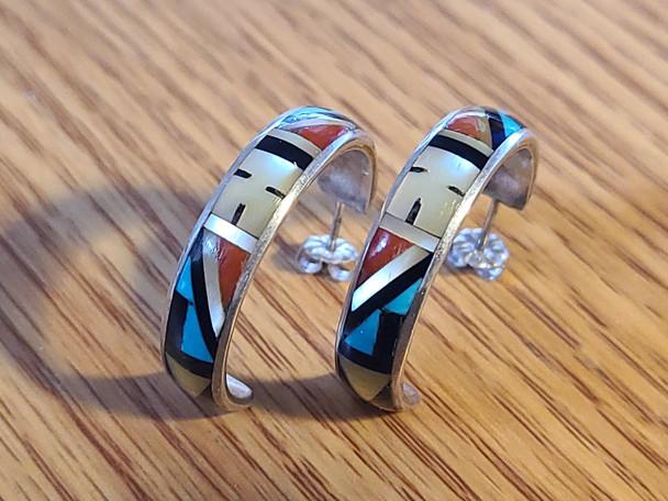 Zuni Inlaid Earrings