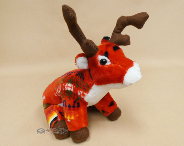 Western Stuffed Reindeer -Red