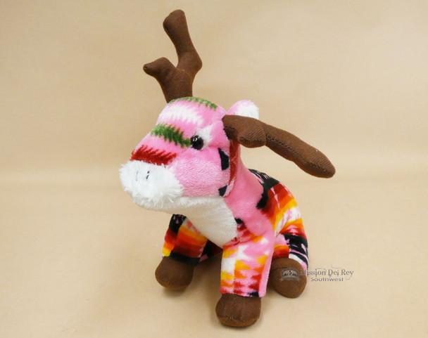 Western Stuffed Reindeer -Pink