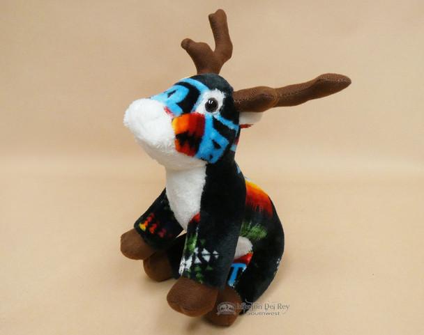 Western Stuffed Reindeer -Black