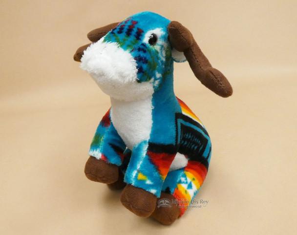 Western Stuffed Reindeer -Teal