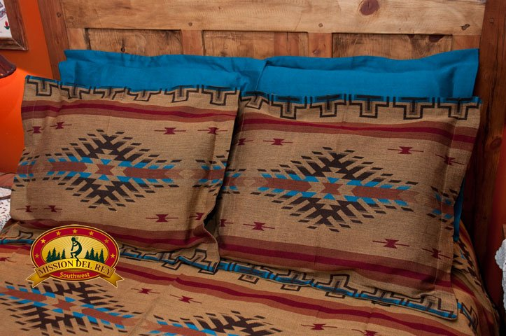 Blue Southwest Pillow Sham with Isleta