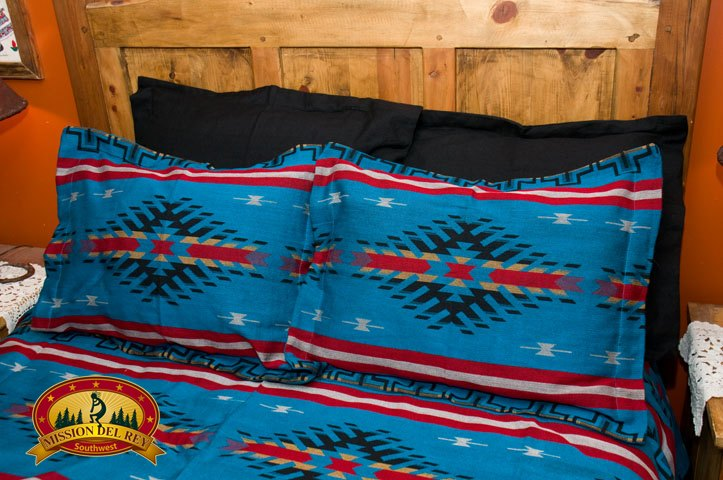 Black Southwest Pillow Sham with Maricopa