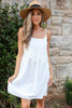 White - Sleeveless Crochet Lace Dress