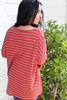 Rust - Oversized Striped Top Back View
