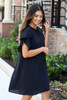 Black - Ruffle Sleeve Dress Side View