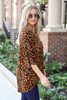 Leopard - Oversized Print Top Side View
