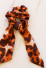 Rust - animal print scrunchie scarf detailed flat lay