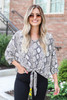 Snake - Tie-Front Kimono Sleeve Top from Dress Up
