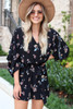 Black - Fall Floral Romper from Dress Up