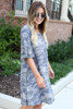 Camo - French Terry Ruffle Sleeve Dress Side View
