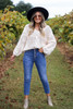 Medium Wash - Button Fly Stretch Fit Mom Jeans