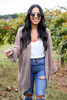 Taupe - Lightweight Knit Baggy Cardigan Sweater