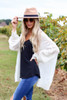 Ivory - Lightweight Knit Baggy Cardigan Sweater