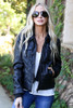 Black - Teddy Lined Leather Jacket