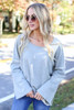 Heather Grey - Bell Sleeve Pullover