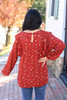 Rust - Floral Blouse Back View