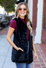 Black - Luxe Faux Fur Vest from Dress Up