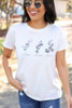 White - Flower Graphic Tee from Dress Up Boutique